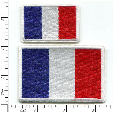 20 Pcs Embroidered Iron on patches National Flag France AP051fA