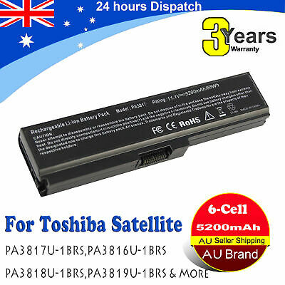 For Toshiba Satellite P750 P750D P770 P775 Laptop Battery PA3817U-1BRS PA3819 H