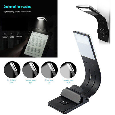 LED Reading Book Light Flexible Clip USB Rechargeable For Kindle/eBook Readers