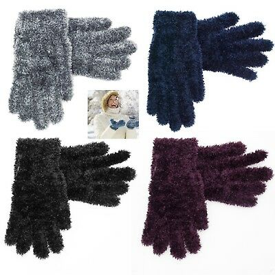 Womens Ladies Super Soft Genuine Feather Fully Fleece Lined Gloves Winter Warm
