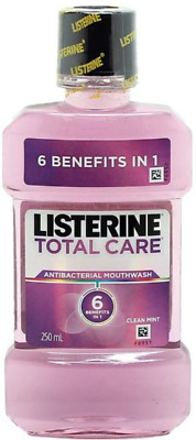 # 8 X Listerine Total Care Anti-Bacterial Mint Mouthwash Rinse 250Ml Total 2L