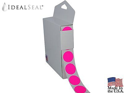 Color Coding Labels Super Bright Neon Pink Round Circle Dots (With Easy Box
