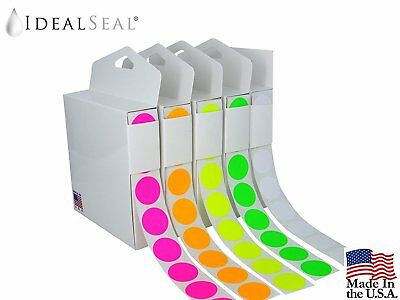 Color Coding Labels Super Bright Fluorescent Neon Yellow, Green, Orange, Pink