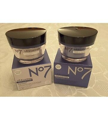 Boots No7 lift and luminate triple action day and night cream Rrp £50