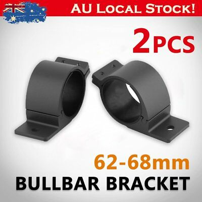 2 Pcs 62-68mm Bullbar Mounting Bracket Clamp for Driving Work Light Bar AUSTOCK