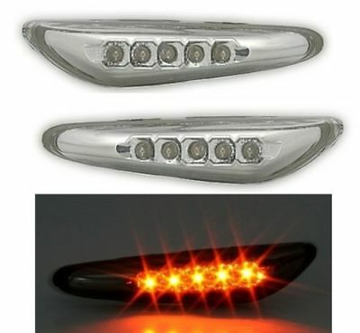 2 Clignotant Lateraux Chrome A 5 Led Bmw Serie 3 E46 Berline Phase 2 Et Serie 5