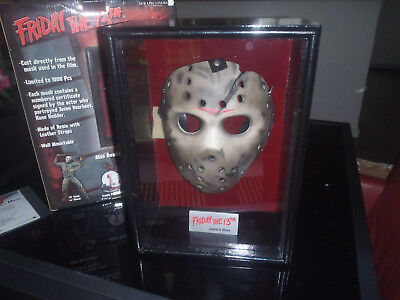 Extremely Rare! Friday the 13th Jason Voorhees Mask in Display LE of 1000 Neca