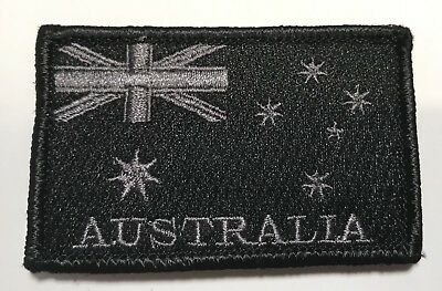 Australian Flag Patch, Subdued, Hook Rear, 7cm x 4.5cm, 1 x Item