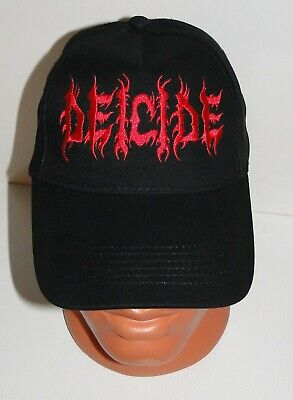 DEICIDE black cap hat NEW embroidered logo death metal