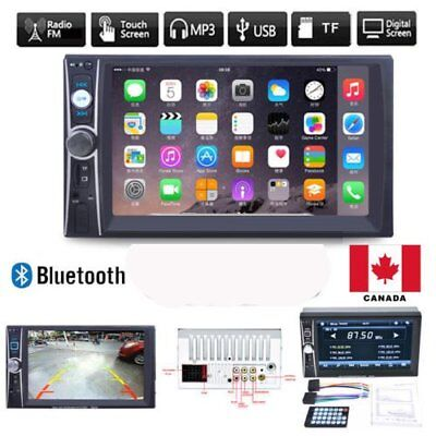 "7"" HD Double 2DIN Bluetooth Touch Screen Car Radio Stereo MP5 MP3 Player CA"