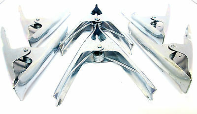 """6"""" Metal Market Stall Clips / Clamps / Bulldog Clips Etc ( Set of 12) New CL117"""