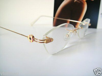 FLAIR 52-18 JEWELRY Noble Palin Glasses Eyeglass Frame Rimless Gold ...