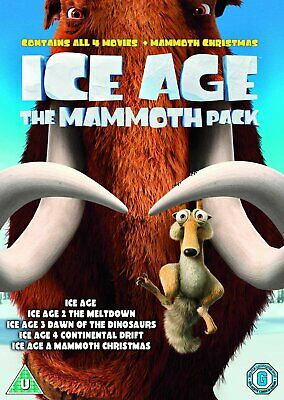 Ice Age 1-4 plus Mammoth Christmas: The Mammoth Collection [2002] (DVD)WOWB