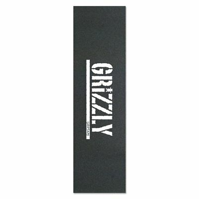 Grizzly Griptape - Stamp Logo Black/White / Skateboard Oldschool Cruiser Grip
