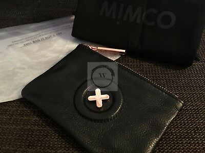 Express - Authentic Mimco Small Daydream Black Leather Pouch Wallet Purse Coin