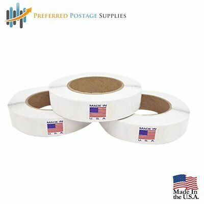 USPS Approved For Tabbing White 1 inch Wafer Seals Envelope Seals 2500 tabs per
