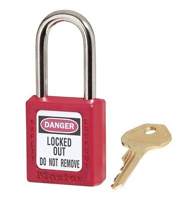Master Lock 410RED Thermoplastic Safety Padlock