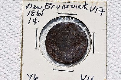 1861 New Brunswick One Cent Coin ! 1St Year Of Issue! Only 1,000,000 Minted!