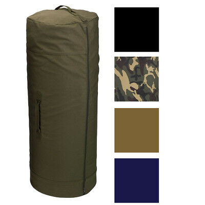 Side Zipper Canvas Duffle Bag, Military Duffel Heavy Duty Cotton Army Sea Cargo