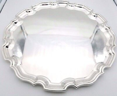 Tiffany & Co. Sterling Silver Maker 24070 Large 12.5 Inch Plate Tray 886 Grams
