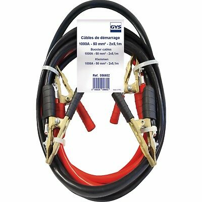 Kabel Reparatur Start-up Pro GYS 1000A 50mm² Länge 4,5 m Klemme Messing pur