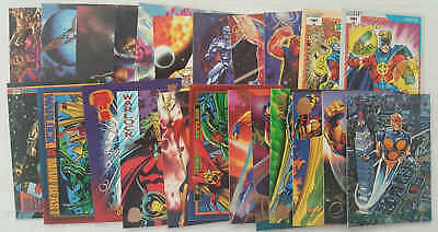 PERSONAGGI COSMICI MARVEL - set 23 trading cards