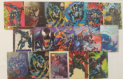 VENOM  (SPIDER-MAN) - 18 trading cards