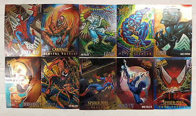 SPIDERMAN MASTERPIECES - 10 trading cards laminate