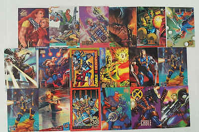 CABLE - (X-MEN) - 18 trading cards