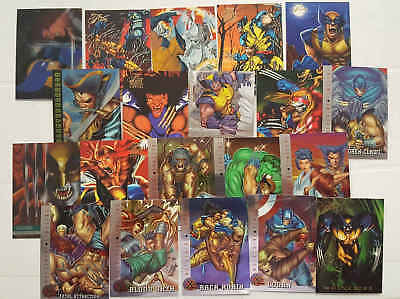 WOLVERINE (X-MEN) - 20 trading cards