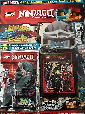 LEGO Ninjago Magazine issue  30 with free minifigure and sticker pack