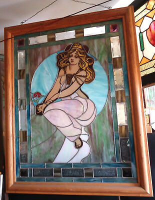 Exquisite Vintage Antique Stained Glass (09253)NS