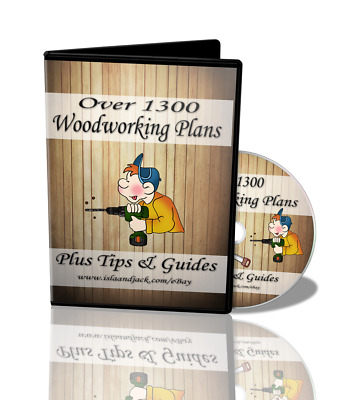 Over 1300 Woodworking Plans on DVD - Summer house - Shed - Table - Furniture etc