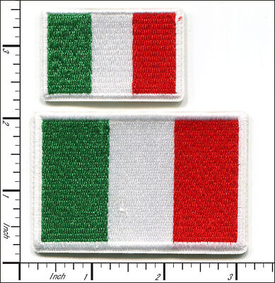 20 Pcs Embroidered Iron on patches National Flag Italy AP051iA