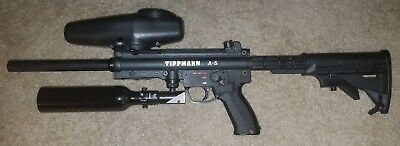 Tippmann A5 Marker With E Grip Paintball Pepperball Version Many Extras