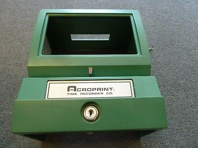 Acroprint Time Recorder Clock Model 125NR4 Plastic Cover/Shell