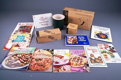 Lot Of The Pampered Chef Stuff 10 Cook Books Cookie Press , Stone + More ~ L@@k!