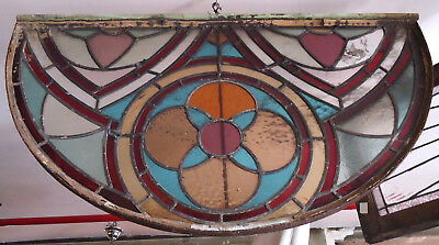 Unique Vintage Stained Glass Window (09259)NS