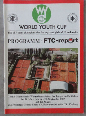 TENNIS-Programm/ FTC-report ( WORLD YOUTH CUP ) 1987