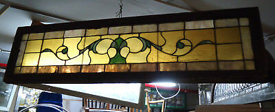 Vintage Stained Glass Window Panel (09262)NS