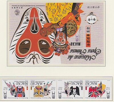 MACAU 1998 Opera Masks MINT set & MS sheet sg1056-1059 MNH