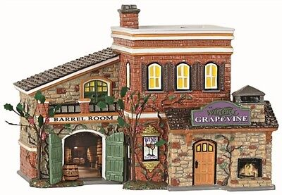 Dept 56 Snow Village Grapevine Winery Mid-Year 2017 Platinum BRAND NEW FREE SHIP