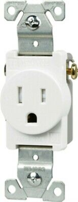 Tr 15a Comm Single Receptacle, PartNo TR817W-BOX, by Cooper Wiring Devices Inc,