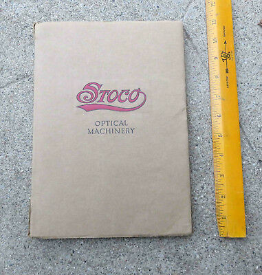 Original 1917 Standard Optical Stoco Optical Machinery Catalog G w Price Booklet