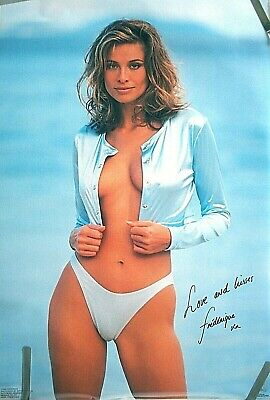 Rare Hot Super Model Frederique 1995 Vintage Original Bikini Pin Up Poster