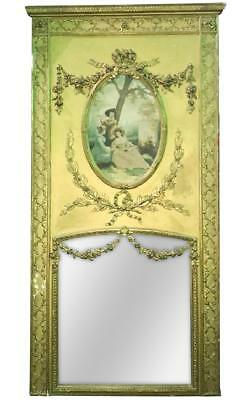 Monumental French Trumeau Mirror, With Gilt Finish, 19th century ( 1800s )