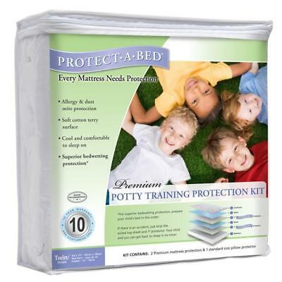 Protect-A-Bed 3-pc Washable Potty Training Kit Waterproof Mattress Protector Set
