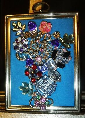 Jewelry Art Mini Bouquet, Signed by Artist