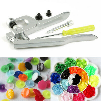 150 Plastic Resin Press Stud Cloth With/Without Fastener Snap Pliers KAM Button