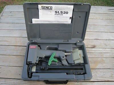 Senco SLS20 Sencomatic Narrow Crown Pneumatic Stapler Tested Free Shipping!!!